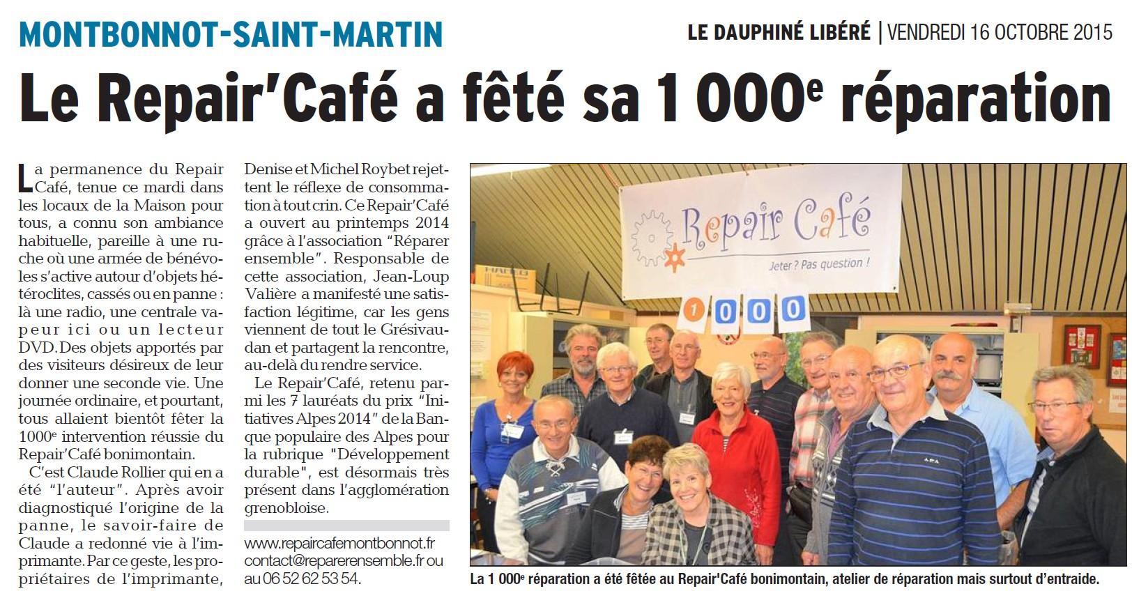 2015-10-16 Dauphiné Libéré