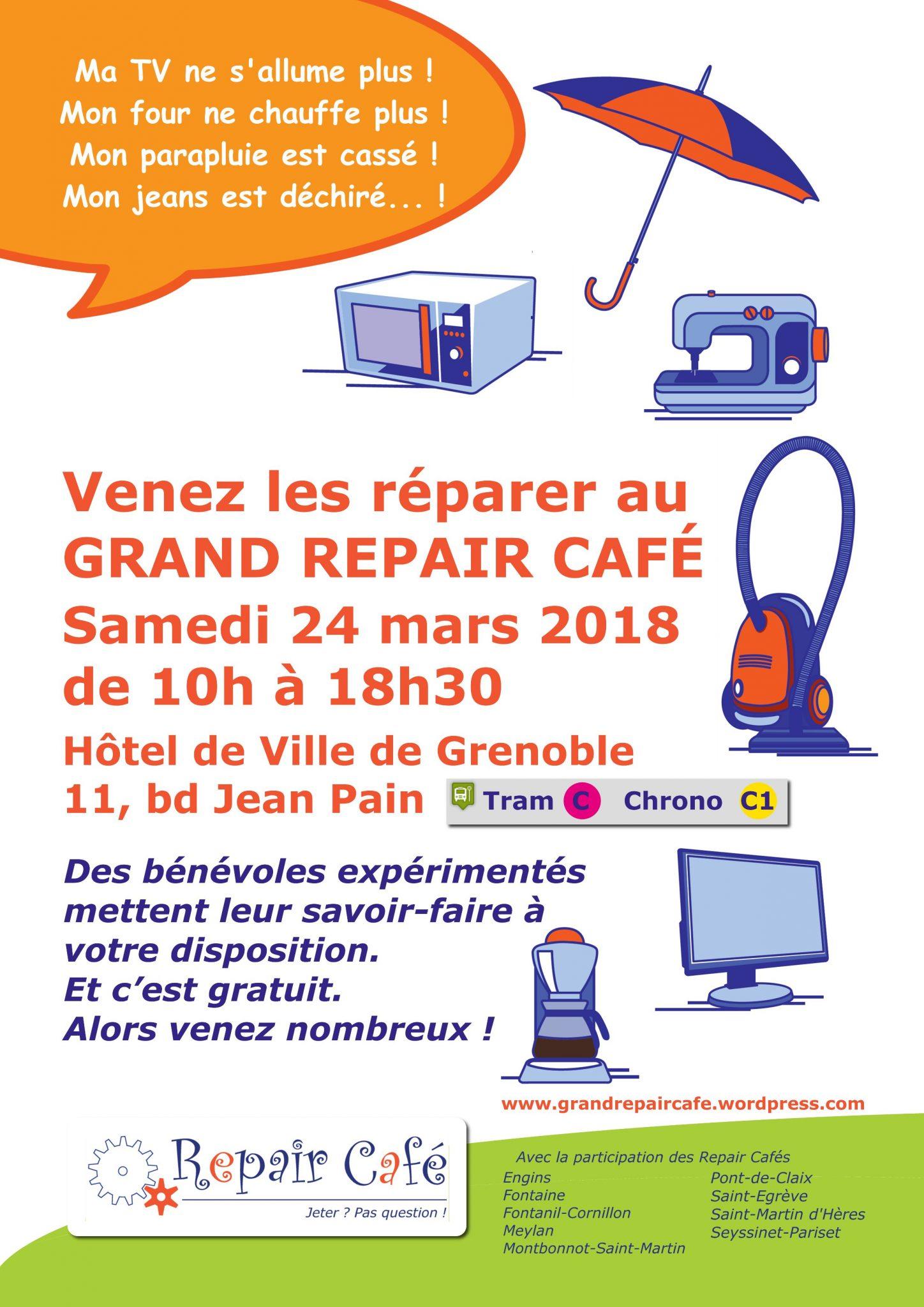 Grand Repair Café à l'Hôtel de Ville de Grenoble